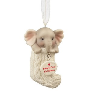 Baby's 1st Christmas Elephant in Stocking Ornament