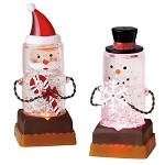 S'more Santa & Snowman Mini Shimmer Lights