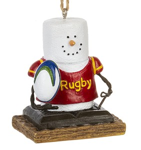 S'more ~ Rugby Player Ornament ~ Damaged Tag