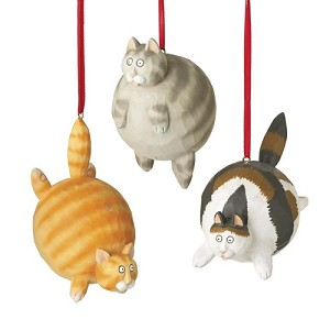 Calico Cat Ornament Cat Christmas Ornaments Fat Cat Ornament