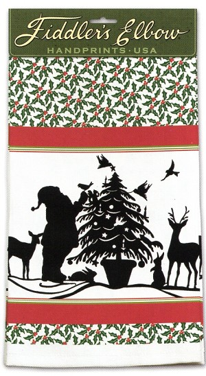 Santa Holly Towel