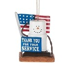 S'more Military Thank You Ornament