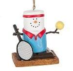 S'more Tennis Player Ornament