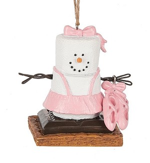 S'more Ballet Slippers Ornament