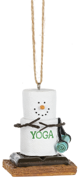 S'more Yoga Ornament