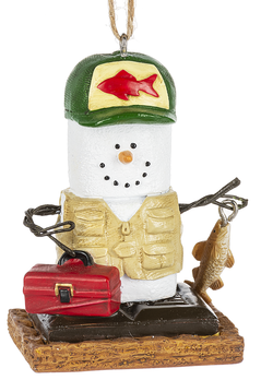 S'more Fisherman w/Tackle Box Ornament