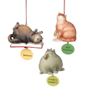 Chubby Cat Ornaments