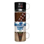 Star Wars 4 pc. Stacking Ceramic Mug Set