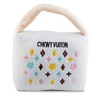 White Chewy Vuiton Purse