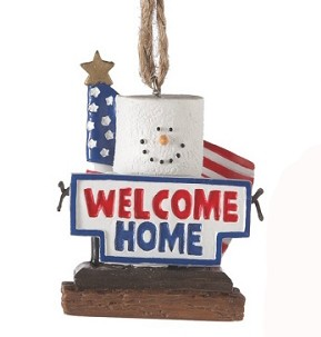S'more Military Pride Welcome Home Ornament
